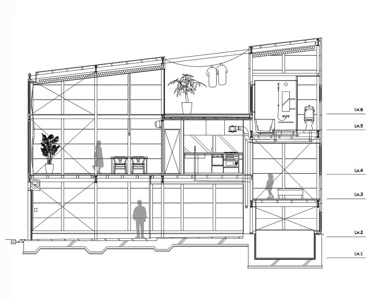 Kakko House plans and section2